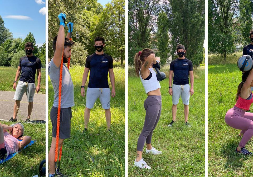 Allenamento all'aperto con personal trainer a Padova